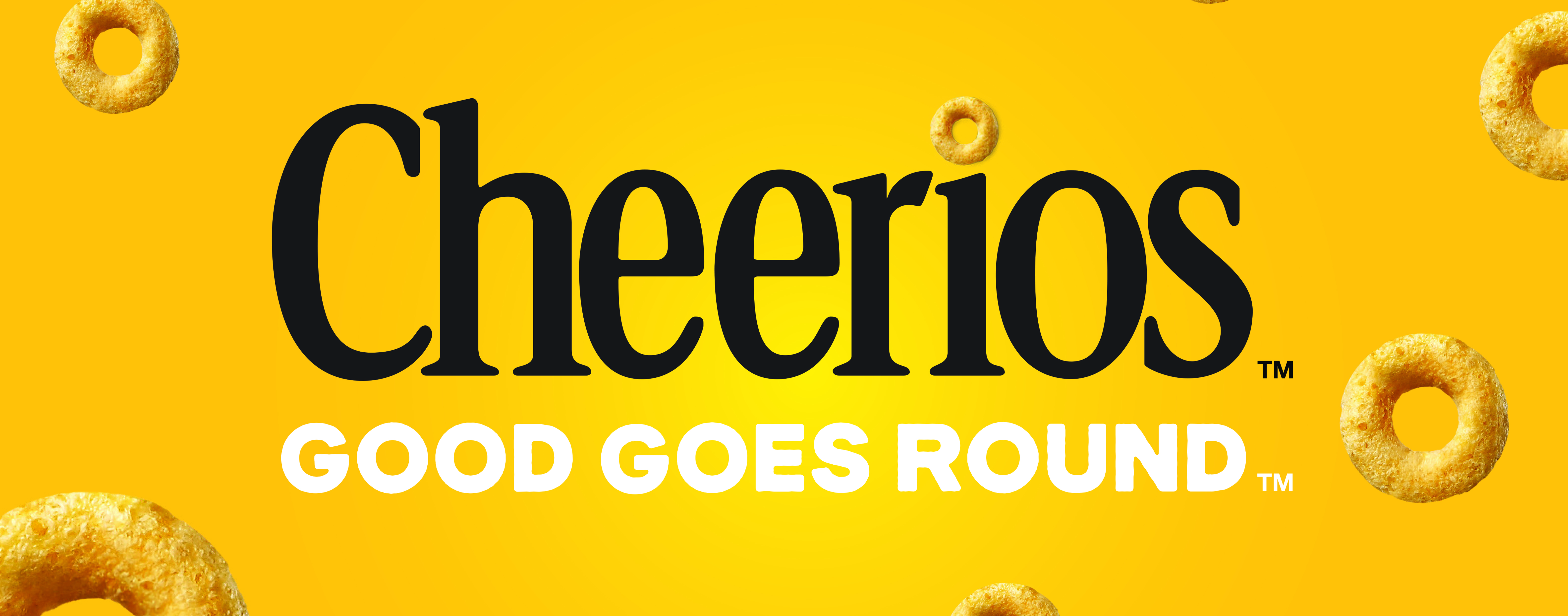 Cheerios Good Goes Round on Yellow background