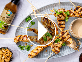 Coconut-Cashew Chicken Satay Recipe