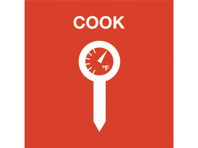 Food Safety: Cook to proper temperatures