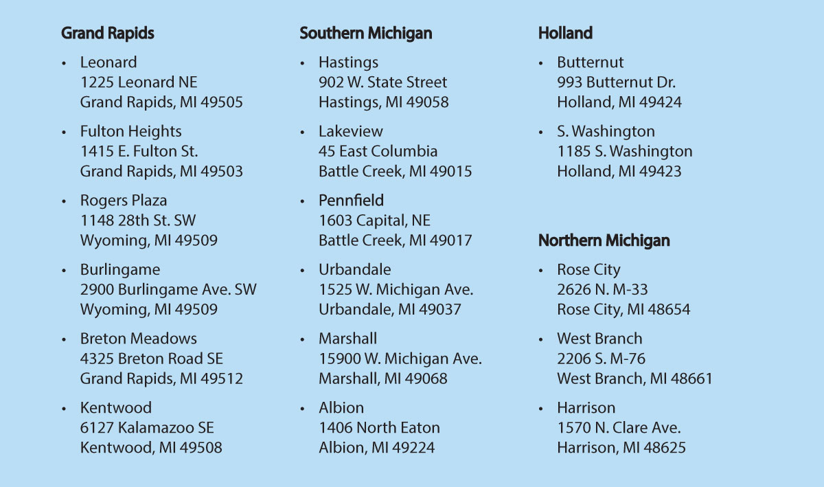 Double Up Food Bucks Family Fare Store List