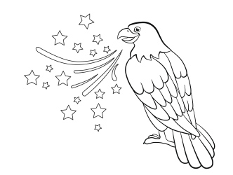 Eagle coloring sheet