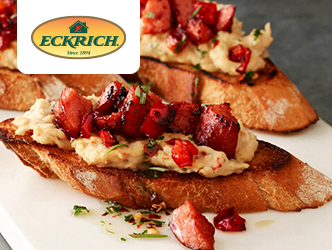 Smoked Sausage and Hummus Toasts recipe