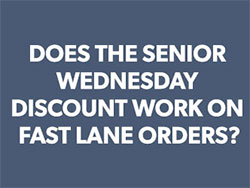 Can senior discount be used for fast land orders graphic