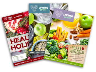 Living Well magazine covers