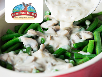 Garlic-Parmesan Green Bean Casserole recipe