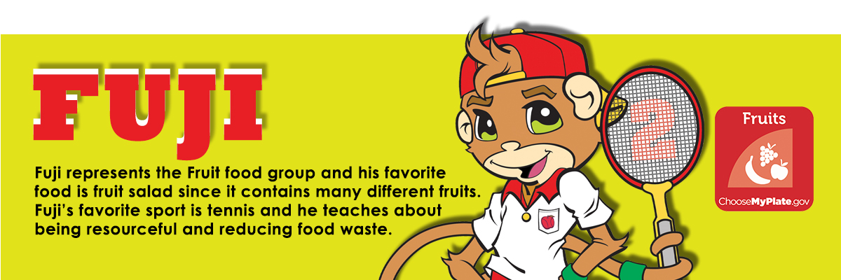 Fuji the fruit loving tennis playing monkey