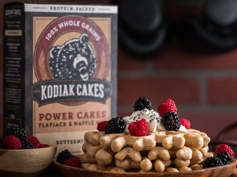 Image of Kodiak Cakes whole grain pancake and waffle mix