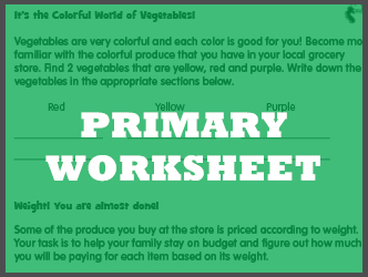 Primary Worksheet