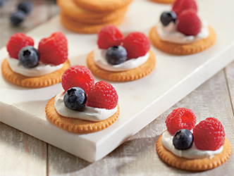 Red, White and Blue RITZ Toppers