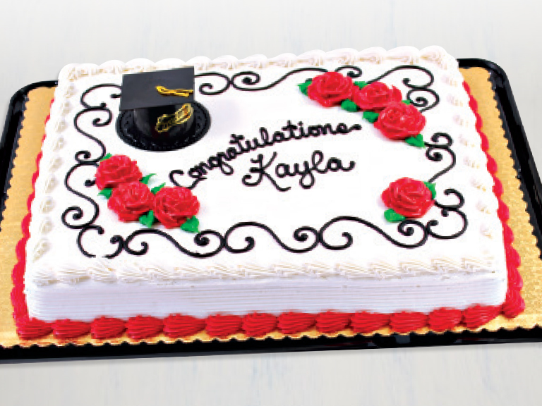 Save on bakery graduation cakes