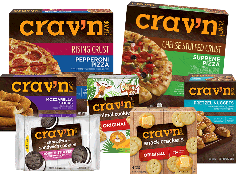 From pizza to snack crackers, Crav'n Flavor has all your appetizer cravings.