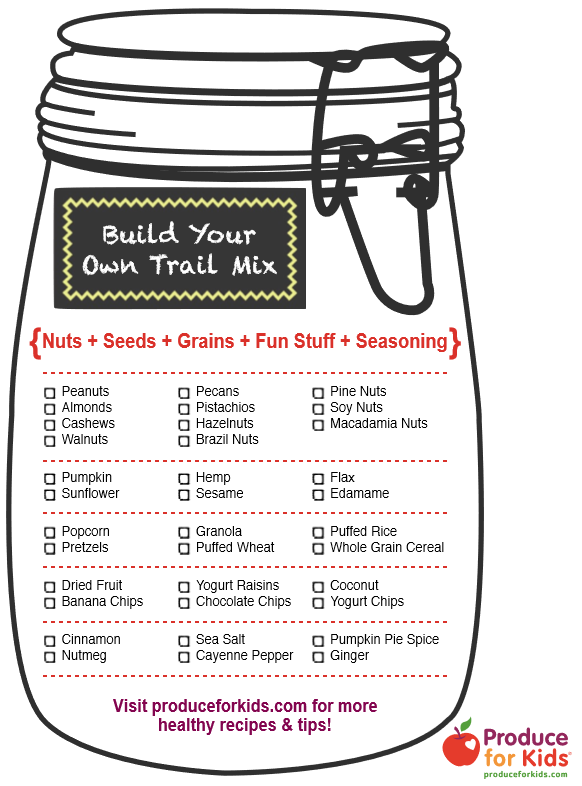 Build your own trail mix