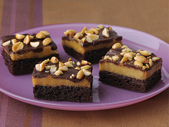 Triple-Layer Peanut Butter Brownie