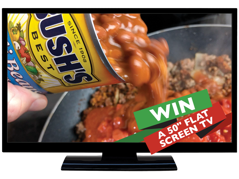 Text to WIN a 50 inch flat screen television.