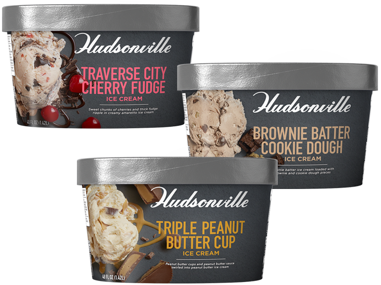 Hudsonville brand ice cream with flavors that cant be replicated anywhere else by anyone else
