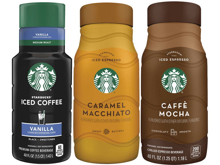 Starbucks slow-steeped custom cold brew blends and flavored iced coffee