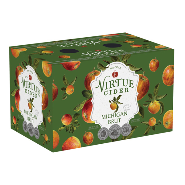 Virtue Michigan Brut Hard Cider 6pk can By The Case!
