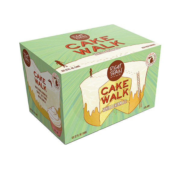 Right Brain Cake Walk 6pk can By The Case!