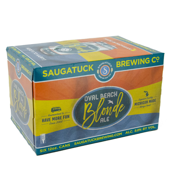Saugatuck Oval Beach Blonde 6pk can By The Case!