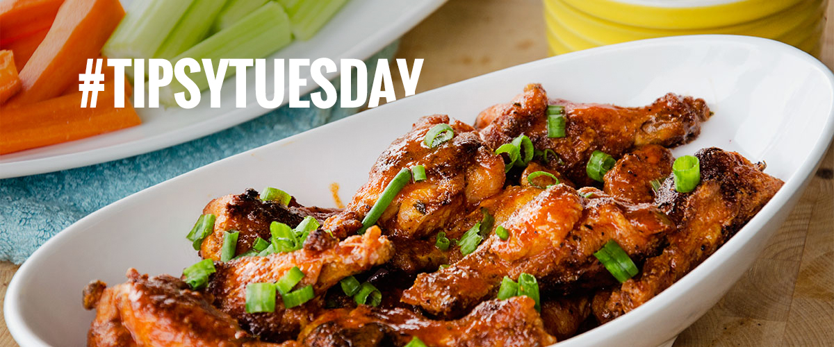 A beautiful plate of Buffalo Cajun Baked Wings ready to be enjoyed at your next party.